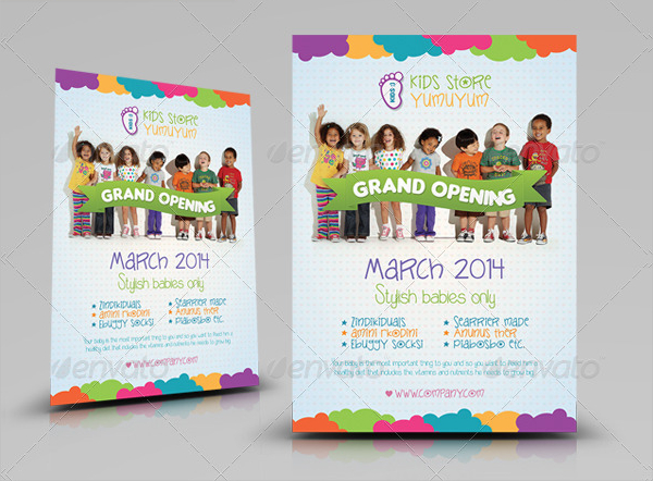 Popular Kids Store Flyer Templates