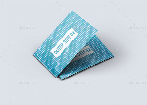 Professional Folded Business Card Template