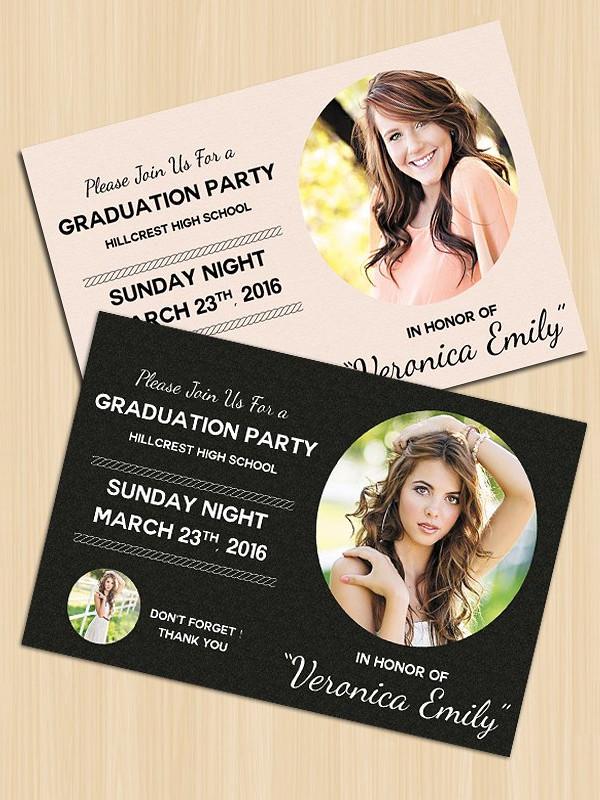 Attractive Graduation Invitation Template