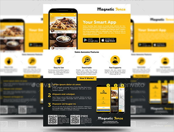 Professional Mobile App Agency Flyer Template