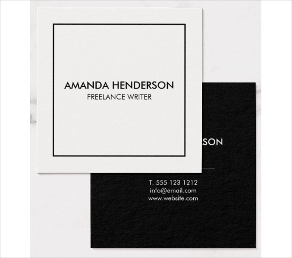 Professional Square Business Cards