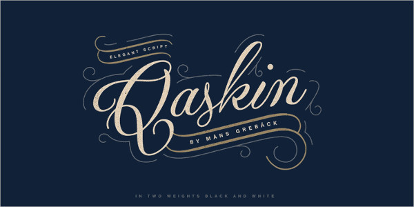 Qaskin Black Personal Calligraphy Font