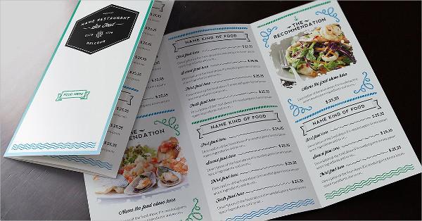 Elegant Seafood Menu Design Template
