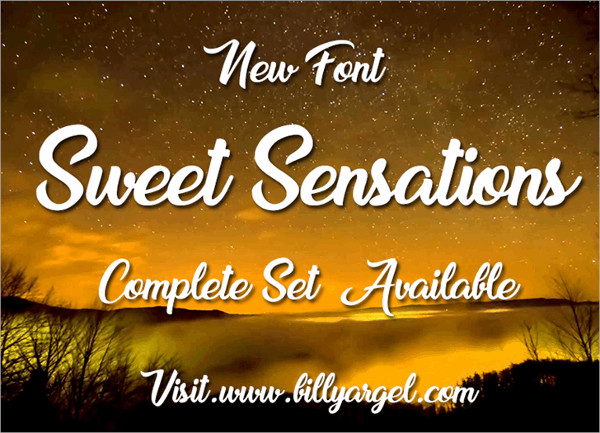 Sweet Sensations Calligraphy Font Free