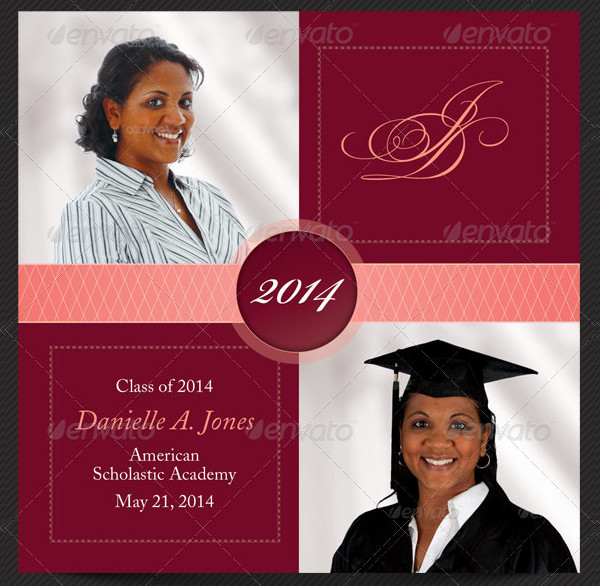 Printable Graduation Invitation Card Template