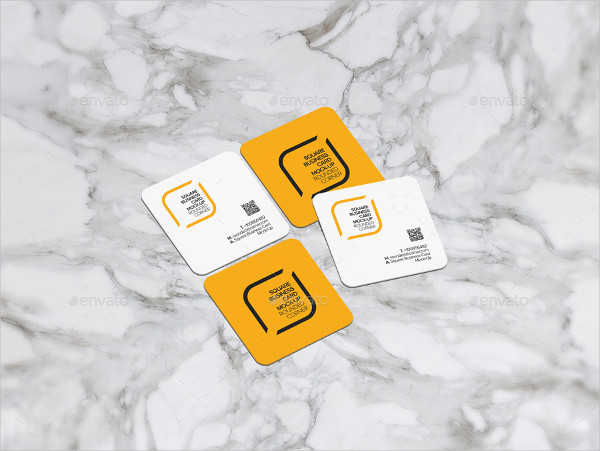 Rounded Squares Business Card Template