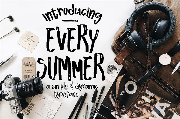 Decorative Every Summer Font