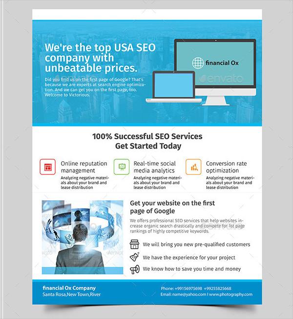 Perfect SEO Company Marketing Flyer