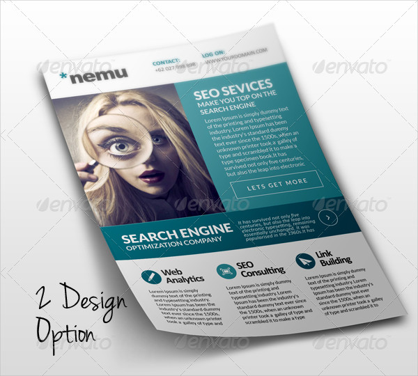 Popular SEO Marketing Flyer Template