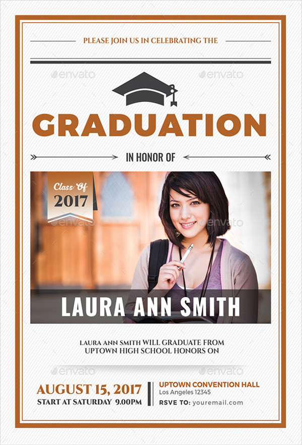 Simple Graduation Invitation Template