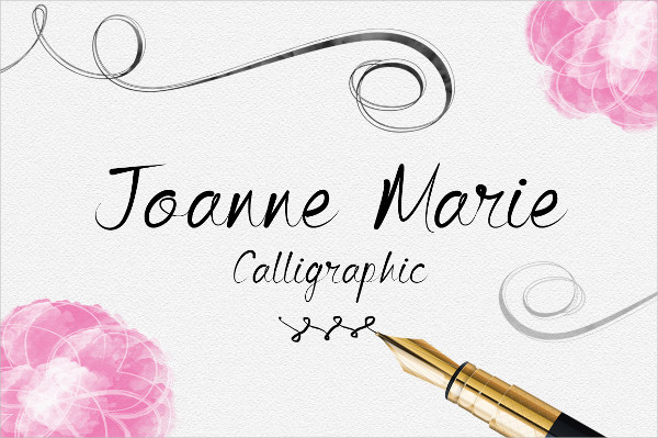Popular Calligraphy Fonts