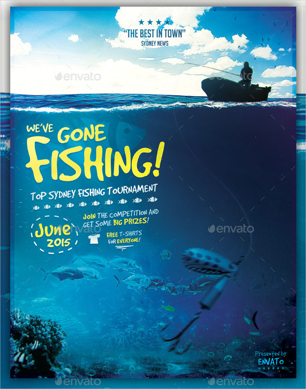 Perfect Fishing Tournaments Flyer Template