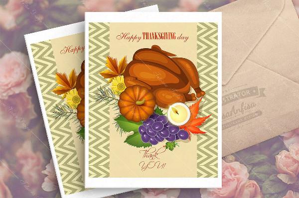 Seasonal Thanksgiving Day Greeting Card