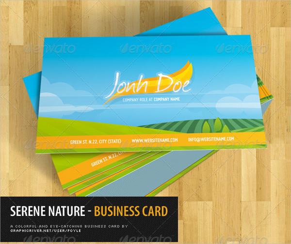 Best Serene Nature Business Card