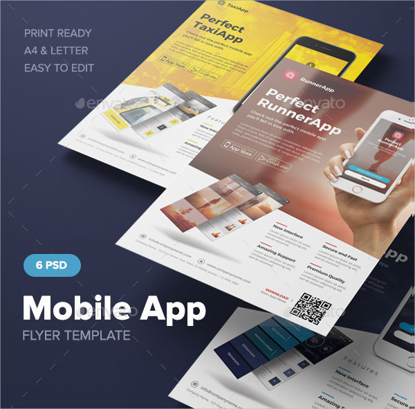 Awesome Mobile App Service Flyer Template