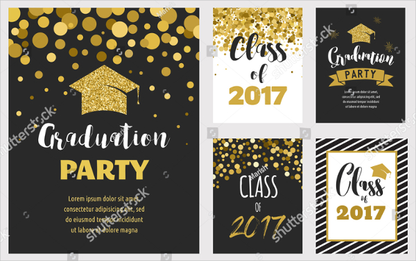 Set of Graduation Party Invitations