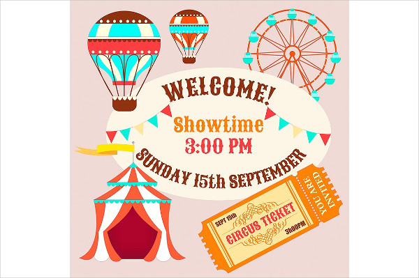 Showtime Circus Poster Template