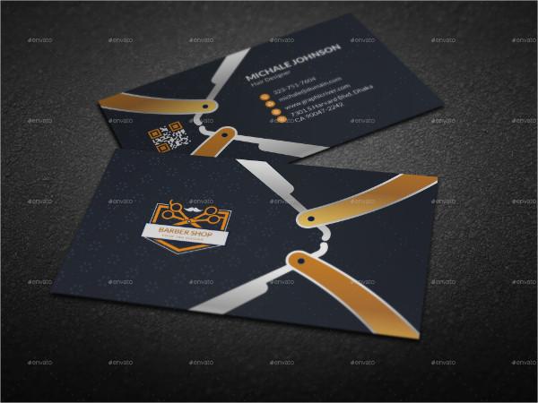Custom Barber Business Card