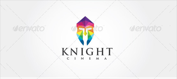 Simple Knight Cinema Logo Template