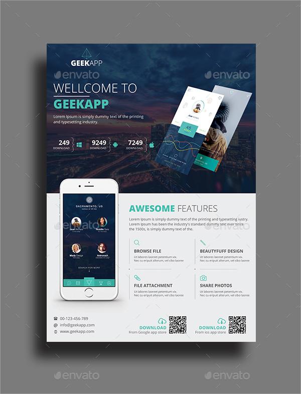 Minimal Mobile App Flyer Template