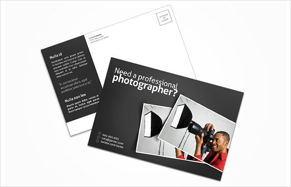 Photography Business Marketing Postcard Template