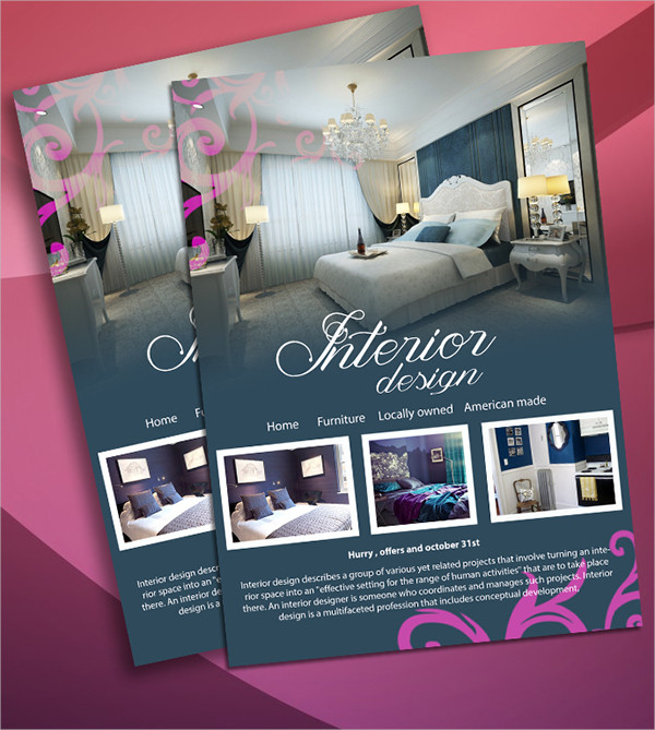 Interior Design Advertising Flyer Template