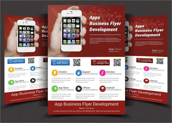 Print Ready Mobile App Flyers