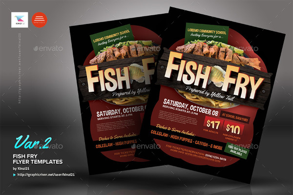 Special Fish Fry Flyer Templates