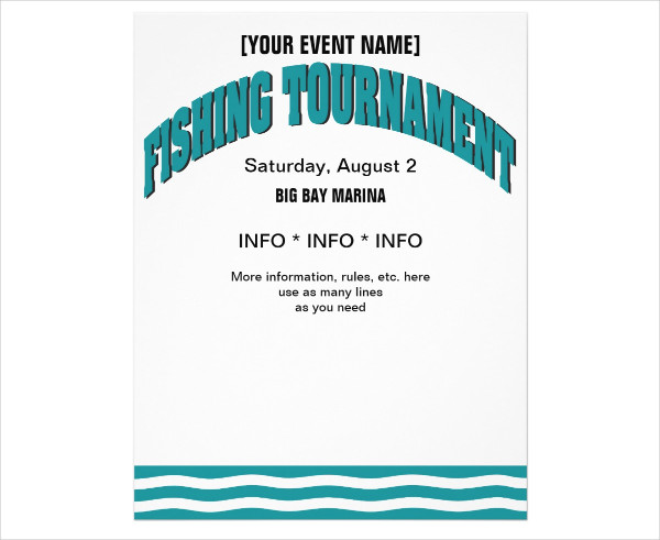 Sport Fishing Promotion Flyer Template