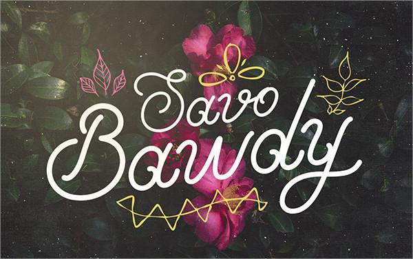 Perfect Savo Bawdy Font