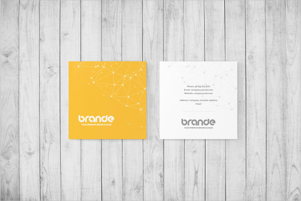 Square Printable Business Card Mock-Up