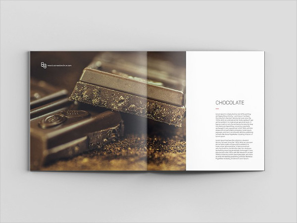 Square Chocolate Brochure Template