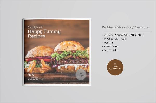 Square Cookbook Magazine Template