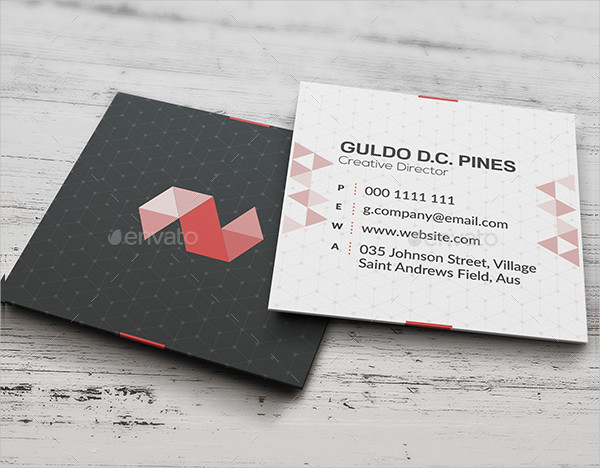 Square Design Agency Business Card Template