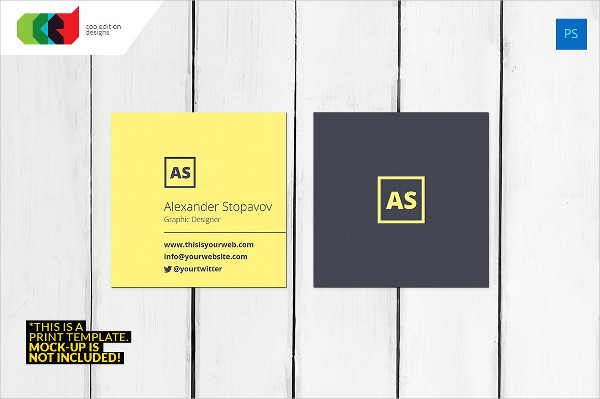 Square Executive Business Card Template