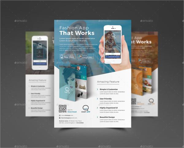 Fully Editable Mobile App Store Flyer Template