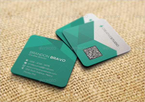 Stylish Square Artist Business Card Template