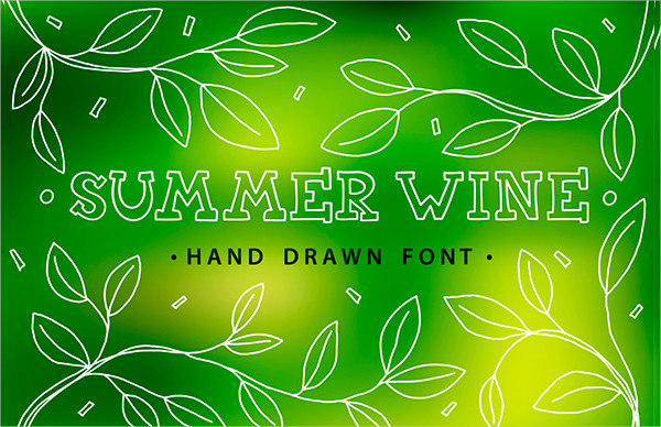 Summer Wine Hand Drawn Font