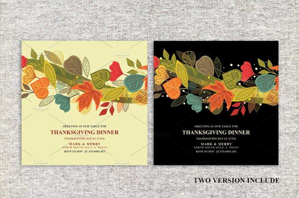 Thanksgiving Dinner Invitations Card