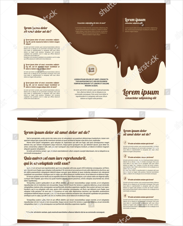 Three Fold Chocolate Business Brochure Template