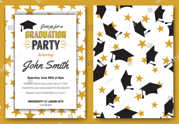 Traditional Invitation Template for Graduation Party