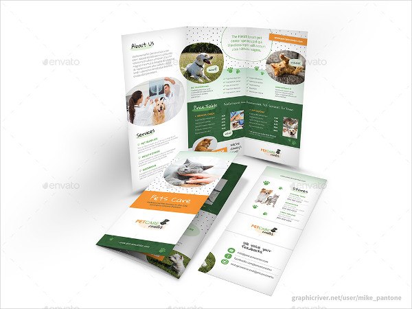 Modern Tri-fold Brochure for Pet Care Center
