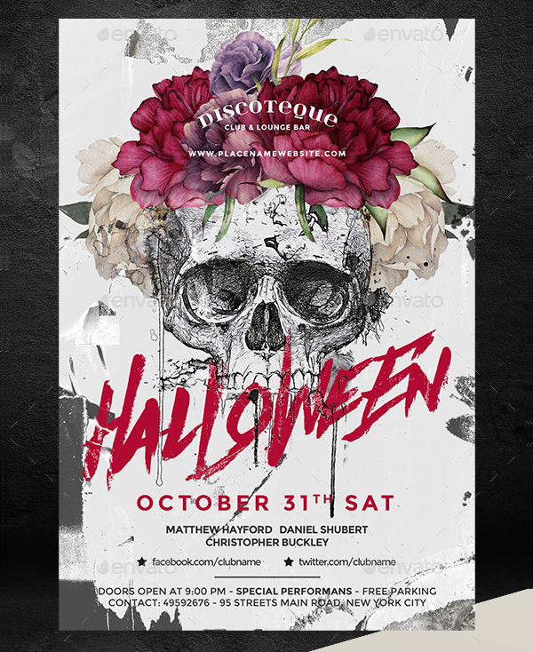 23 halloween party flyer templates free premium download
