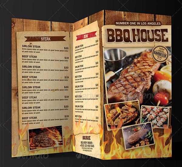 22  printable bbq menu templates