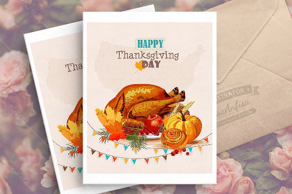 Traditional Thanksgiving Day Greeting Card
