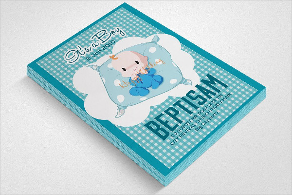 Typographic Baby Baptism Flyer Template