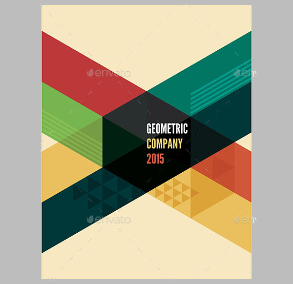 US Letter Geometric Brochure Template