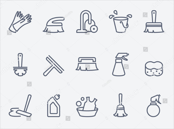 Vaccum Cleaning Icons