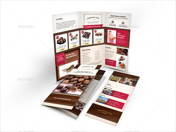Professional Chocolate Store Trifold Brochure