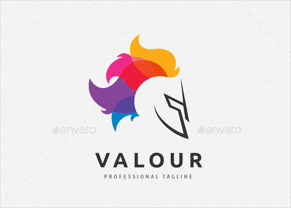 Valour Knight Logo Template